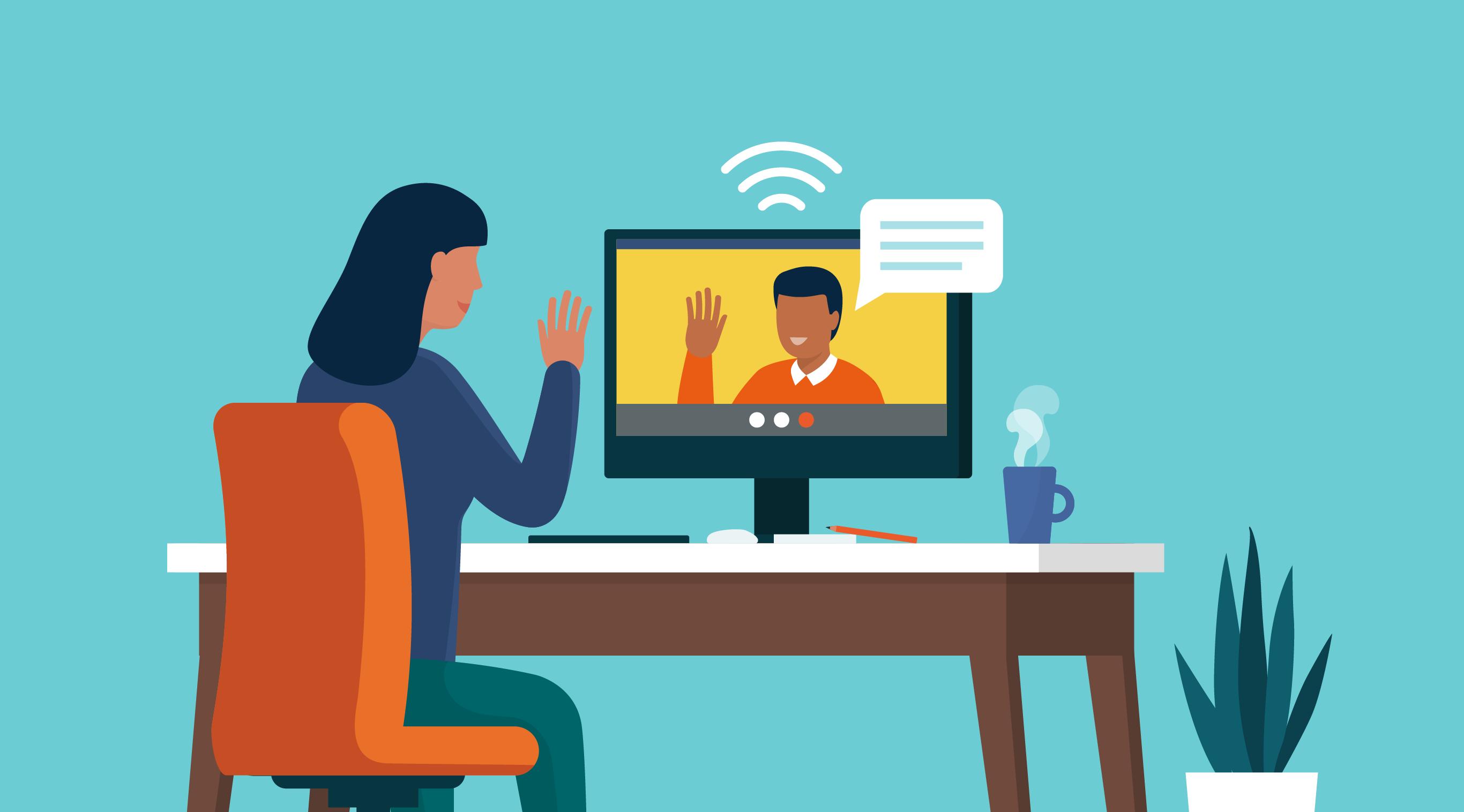 illustration that shows virtual work